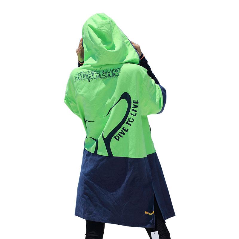 SEAPLAY户外潜水游泳 防风保暖沙滩浴巾风衣浴袍 吸水毛巾衣斗篷