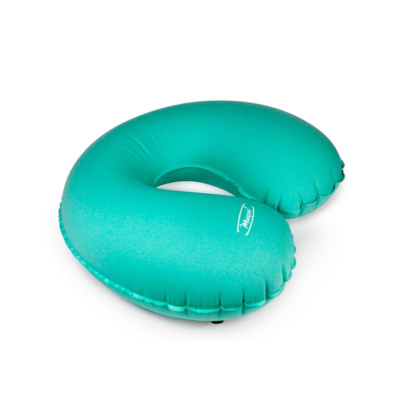 Maxped充气U型枕 车用护颈枕 U型充气午睡枕 自驾旅游枕 湖蓝色
