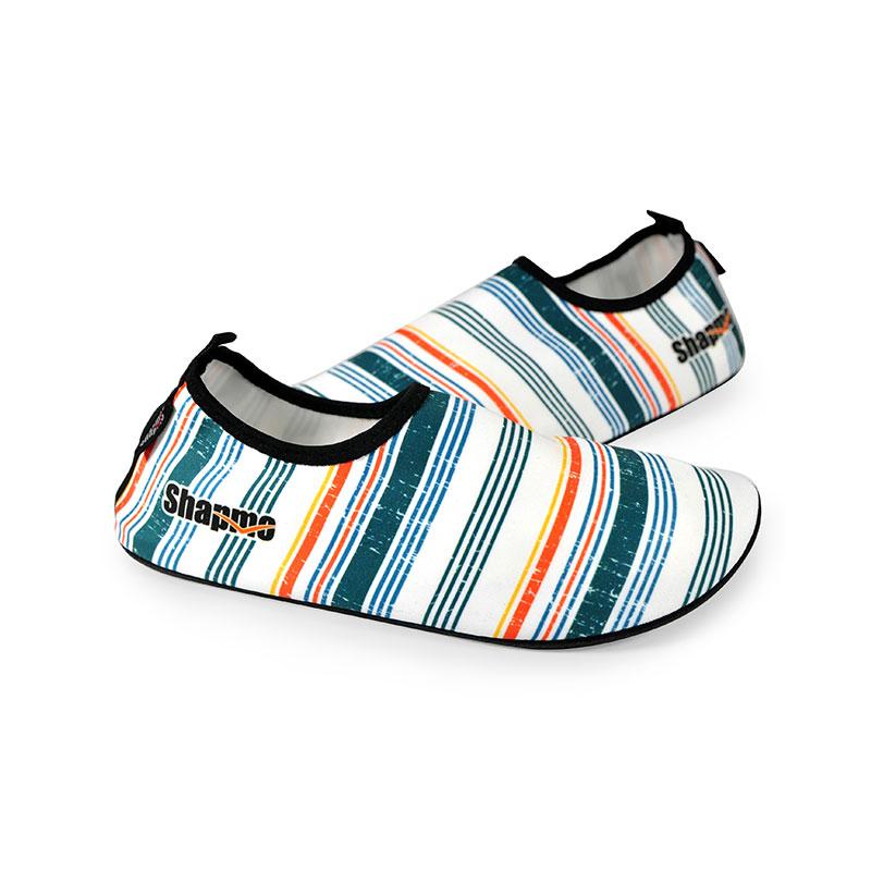 Shapmo   儿童防滑潜水鞋 溯溪鞋 浮潜鞋 赤足鞋  彩条图案