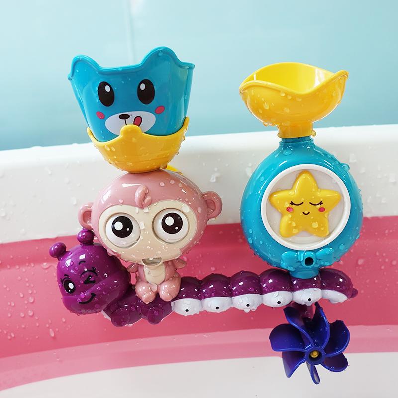 宝宝洗澡玩具儿童戏水转转乐宝宝戏水婴儿喷水水车
