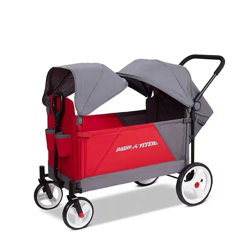 RadioFlyer婴儿车双人遛娃神器折叠双篷四轮手推车童车