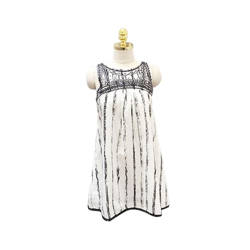 女装夏无袖刺绣钉珠重工民族风连衣裙短裙子沙滩裙