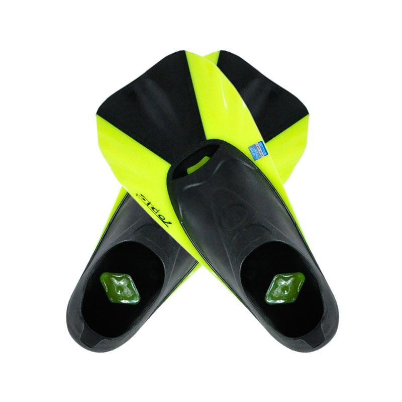 TOPIS潜水脚蹼 全包脚式短脚蹼 浮潜蛙鞋 潜水装备SF-88 荧光黄