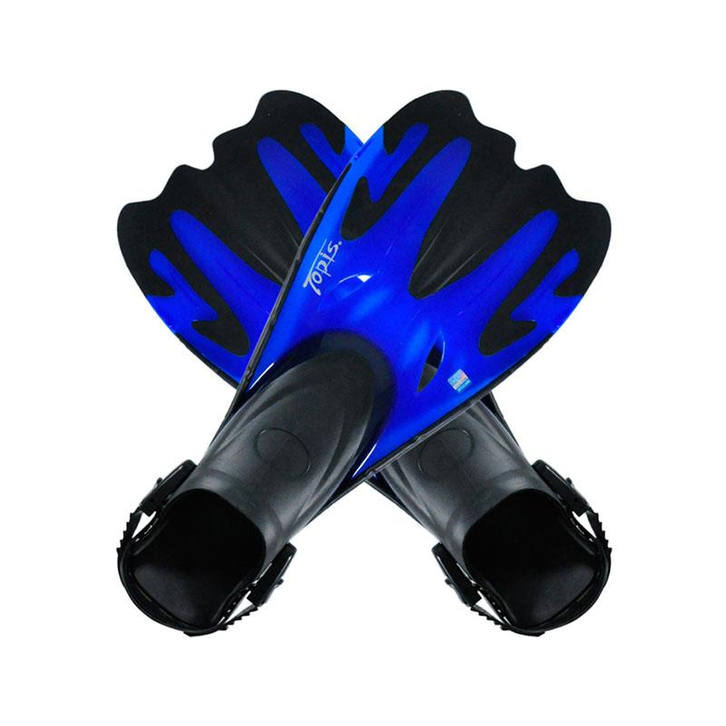 TOPIS脚蹼 潜水脚蹼 浮潜鞋 蛙鞋 可调节脚蹼 F7101 深海蓝