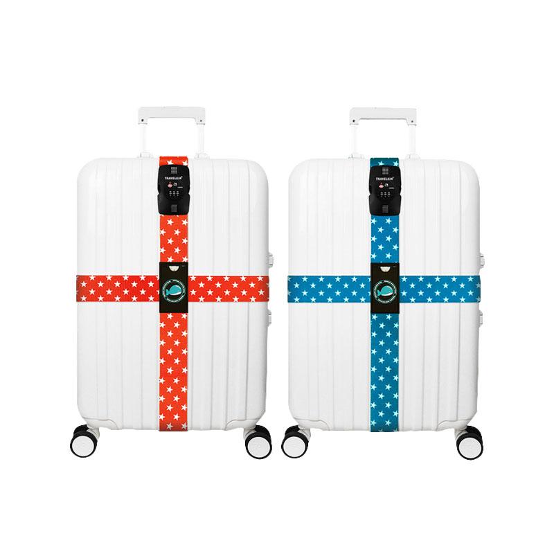 旅行用品 行李箱TSA海关密码锁 卡扣 十字打包带 捆绑带